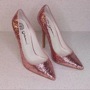 Jeffrey Campbell Pink Glitter Pumps